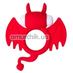 Эрекционное кольцо с вибрацией JOS Cocky Devil, красное - Фото №1