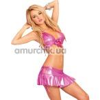 Комплект Magenta Mini Halter Set розовый: бюстгальтер + юбочка - Фото №1