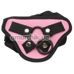 Трусики для страпона Egzo 282089, чёрно-розовые - Фото №1