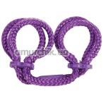 Фиксаторы для ног Japanese Silk Love Rope Ankle Cuffs, фиолетовые - Фото №1