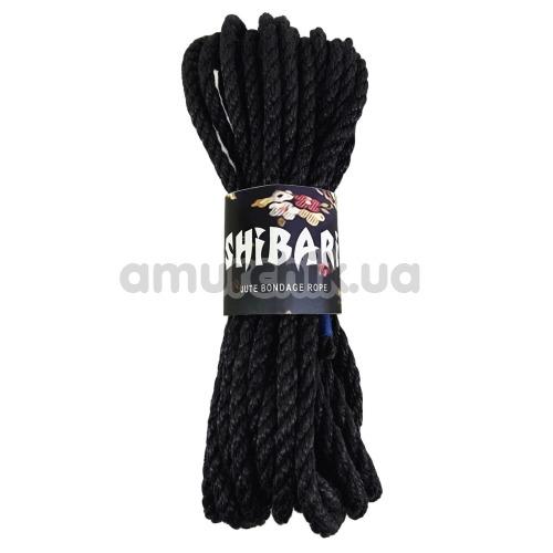 Веревка Feral Feelings Shibari 8м, черная - Фото №1