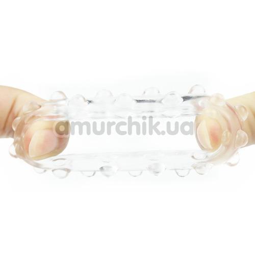 Эрекционное кольцо Power Plus Cock Ring Series LV1433, прозрачное