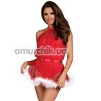 Мини-платье Obsessive Santastic, красное - Фото №1
