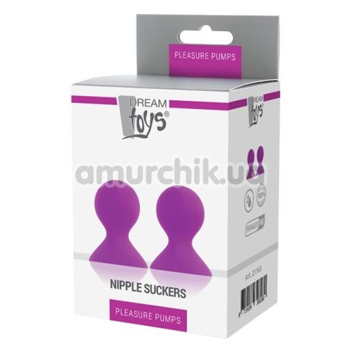 Вакуумные стимуляторы для сосков Lit-Up Silicone Nipple Suckers Pleasure Pumps, розовые