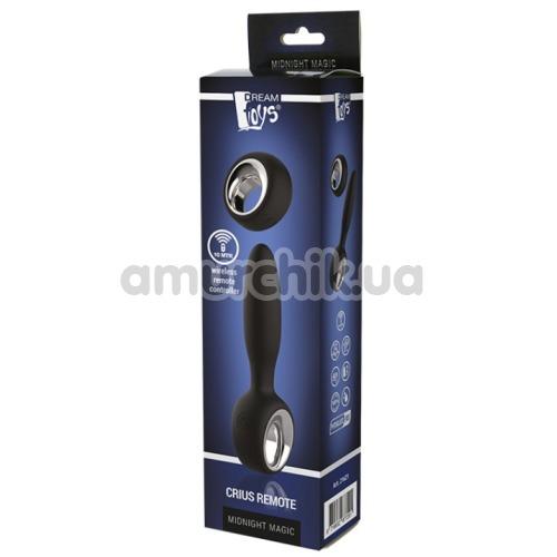 Анальный вибростимулятор Midnight Magic Crius Remote, черный