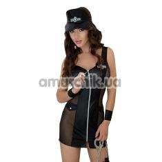 Костюм полицейского Polly: платье + кепка + манжеты - Фото №1
