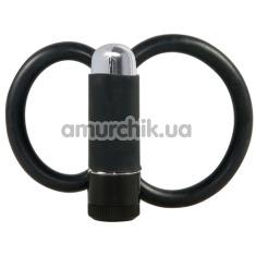 Виброкольцо Vibrating Cockring Latex, черное - Фото №1