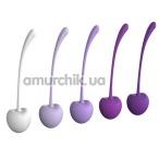 Набор вагинальных шариков Pleasure Balls & Eggs Cherry Kegel Exercisers, фиолетовый - Фото №1