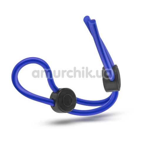 Эрекционное кольцо Stay Hard Silicone Double Loop Cock Ring, синее