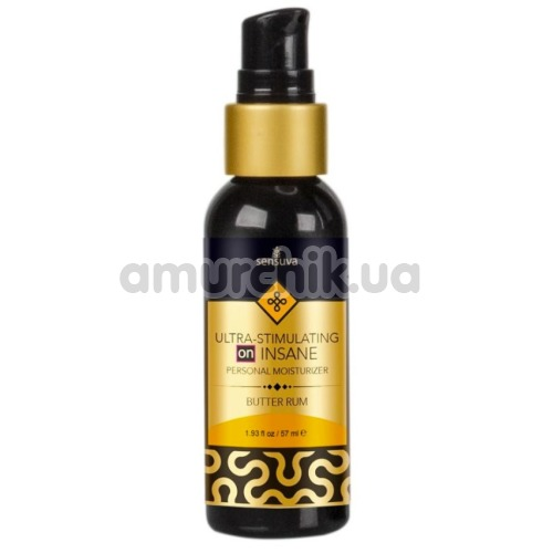 Лубрикант с эффектом вибрации Sensuva Ultra-Stimulating On Insane Butter Rum - сливочный ром, 57 мл