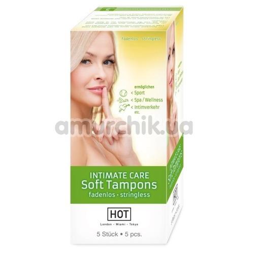 Тампоны Hot Intimate Care Soft Tampons, 5 шт - Фото №1