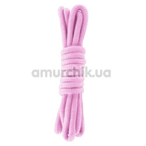 Веревка sLash Bondage Rope Pink 3м, розовая - Фото №1
