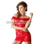 Комплект Veronica красный: комбинация + трусики-стринги - Фото №1