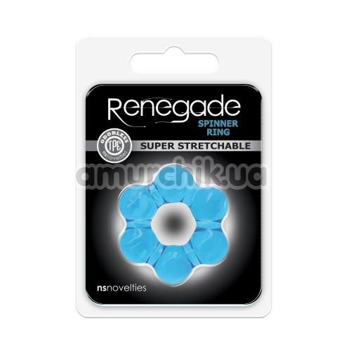 Эрекционное кольцо Renegade Spinner Ring Super Stretchable, голубое