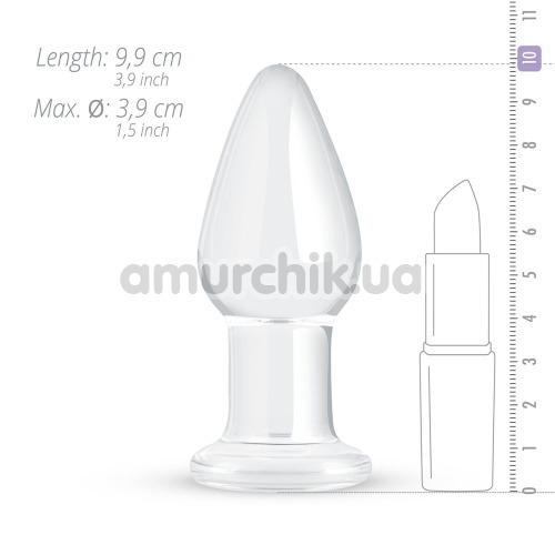 Анальная пробка Gildo Handmade Glass Buttplug No.24, прозрачная
