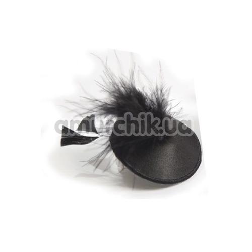 Украшения для сосков Bijoux Indiscrets Burlesque Pasties Feather, черные