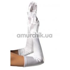 Перчатки Extra Long Satin Gloves, белые - Фото №1