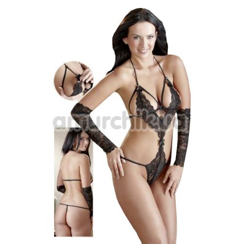 Комплект Body & Gauntlets черный: боди + перчатки
