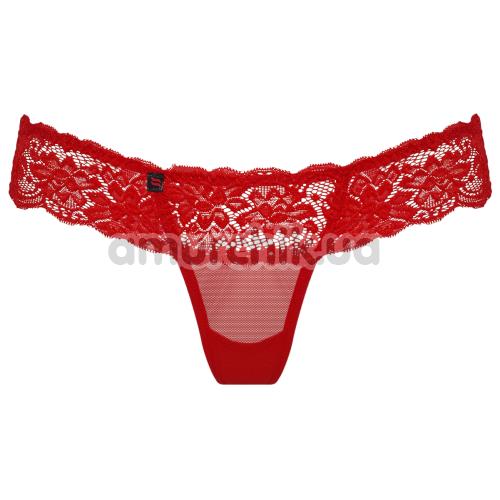 Трусики-стринги Obsessive 863-THO-3, красные