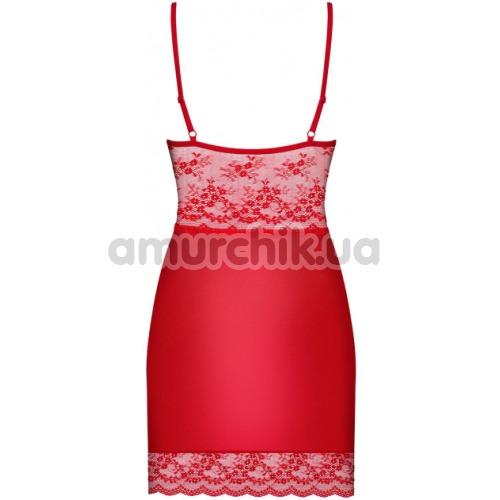 Комплект Obsessive Lovica Chemise красный: пеньюар + трусики-стринги