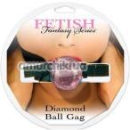 Кляп Diamond Ball Gag, розовый - Фото №1