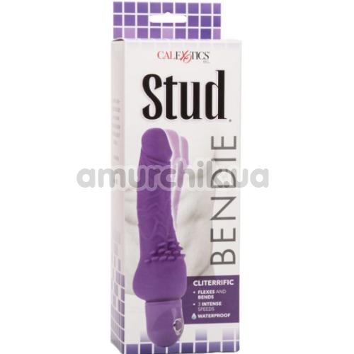 Вибратор Bendie Stud Cliterrific, фиолетовый