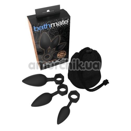 Набор из 3 анальных пробок Bathmate Anal Training Plugs, черный