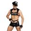 Костюм полицейского JSY Police 6603 чёрный: топ + трусы + перчатки + очки + наручники - Фото №1