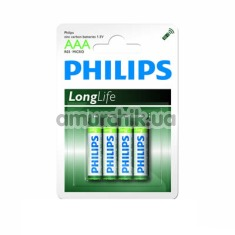 Батарейки Philips LongLife AAA, 4 шт - Фото №1