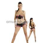 Комплект Erolin Hot Nights Cool & Sexy черный: корсет + трусики-стринги (модель ERL500011) - Фото №1