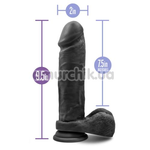 Фаллоимитатор Au Naturel Bold Massive 9 Inch, черный