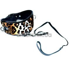 Купить Ошейник с поводком, леопардовый