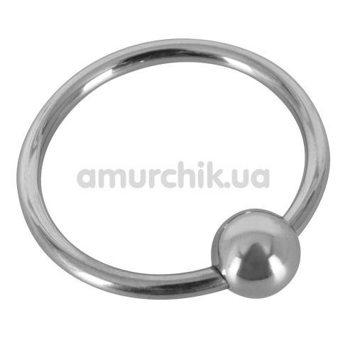 Эрекционное кольцо Sextreme Steel Glans Ring With Ball, 2.8 см - Фото №1