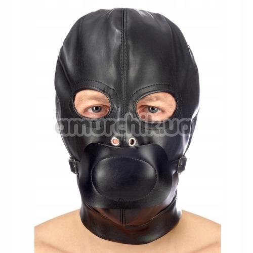 Маска Fetish Tentation Enjoy Pain BDSM Hood With Gag, черная - Фото №1