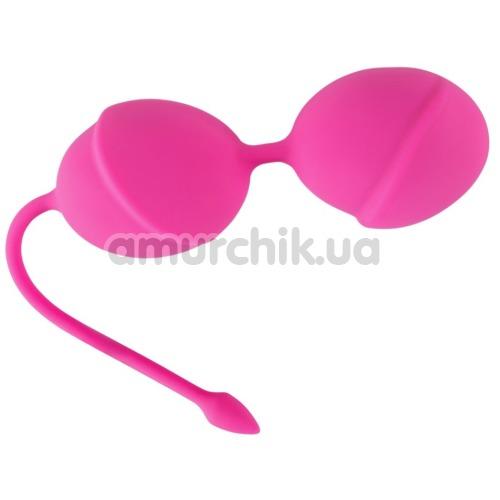 Вагинальные шарики Silicone Love Balls, розовые - Фото №1