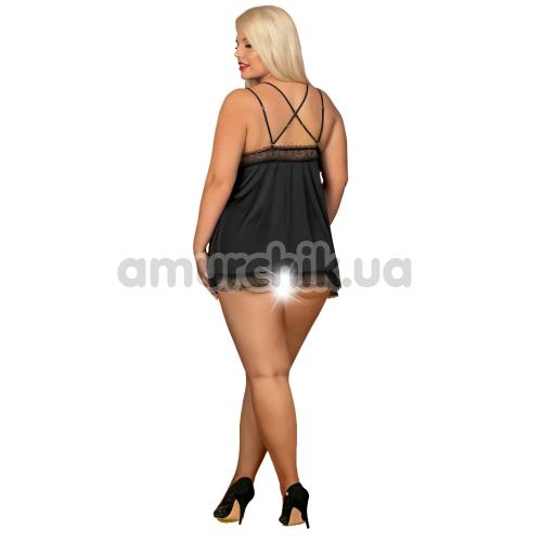 Комплект Obsessive Lolitte черный: пеньюар + трусики-стринги