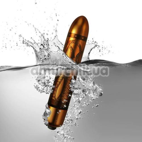 Клиторальный вибратор Rocks-Off Dr Roccos Pleasure Emporium RO-90mm, бронзовый