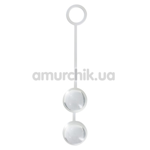 Вагинальные шарики Sweet Duo Love Balls, белые - Фото №1