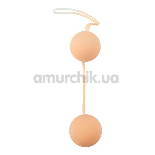 Вагинальные шарики Nature Skin Love Balls телесные - Фото №1