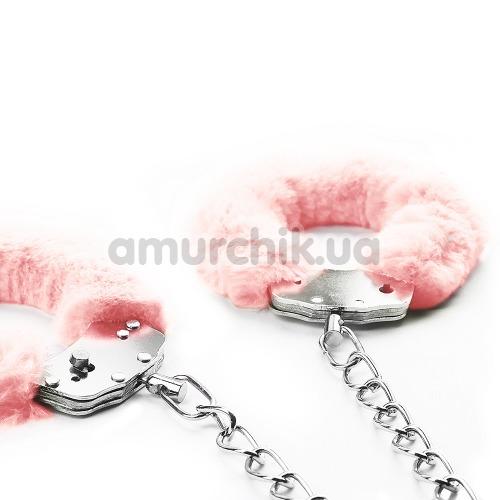 Фиксаторы Fetish Pleasure Fluffy Leg Cuffs, розовые