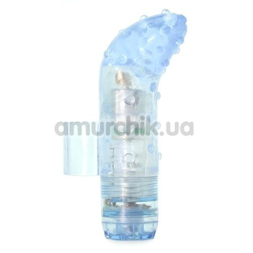 Вибронапалечник для стимуляции клитора Waterproof Finger Fun, голубой