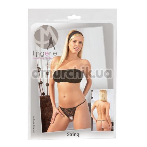 Трусики-стринги Mandy Mystery G-string With Chain 2320096, черные
