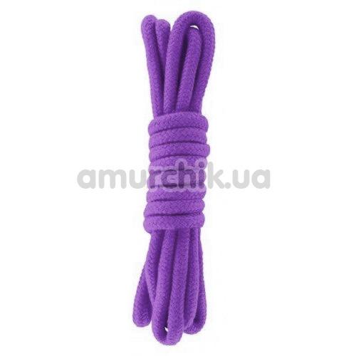 Веревка sLash Bondage Rope Purple 3м, фиолетовая - Фото №1