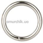 Эрекционное кольцо Silver Ring Medium, серебряное - Фото №1