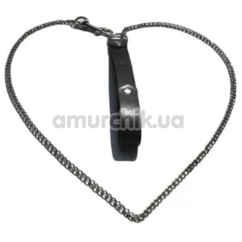 Поводок Kiss Leather, черный - Фото №1