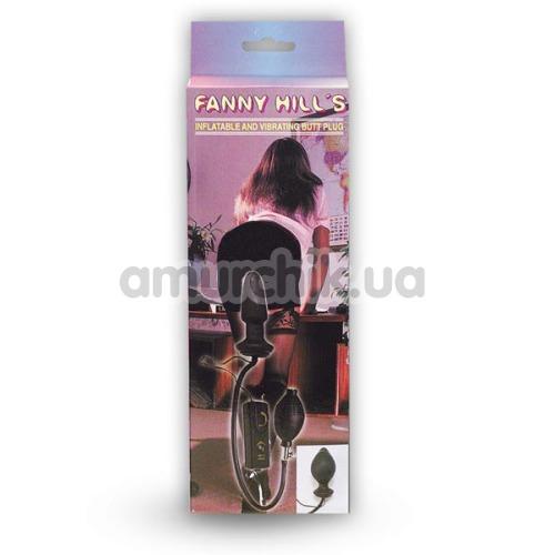 Анальный расширитель с вибрацией Fanny Hills, черный