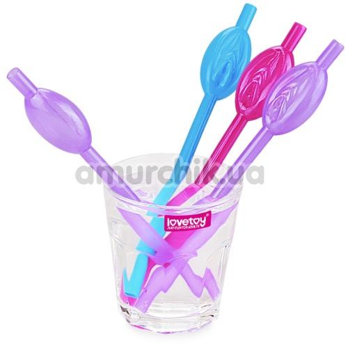 Трубочки для напитков LoveToy Jokes&Parties Pussy Straws, разноцветные 9 шт
