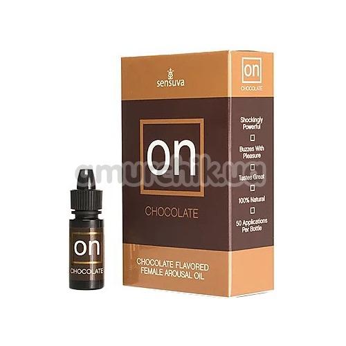 Возбуждающее масло с эффектом вибрации Sensuva On Arousal Oil For Her Chocolate - шоколад, 5 мл
