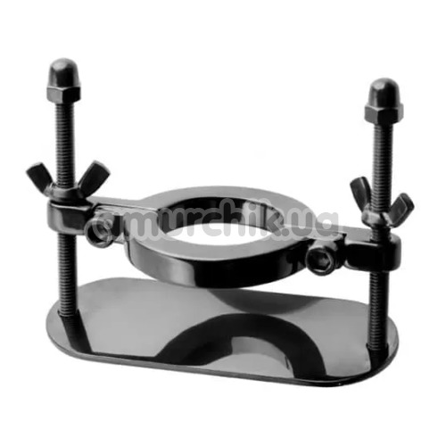 Зажим для мошонки Stainless Steel Ball Crusher, черный - Фото №1