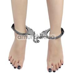 Поножи Fetish Pleasure Metal Leg Cuffs, серебристые - Фото №1